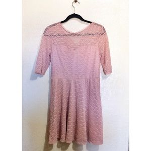 NWT Pink Lace Overlay Dress